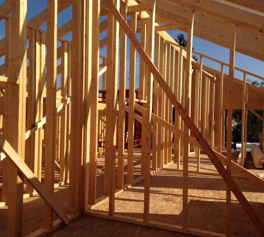 dřevostavba konstrukce